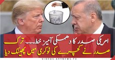 Turkish president Erdogan 'threw Trump's Syria letter in bin'