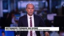 """Offensive turque en SYRIE - Assad promet de faire face par """"tous les moyens légitimes"""""""