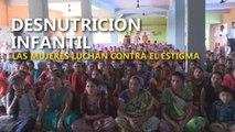 Combaten la desnutrición infantil en la India