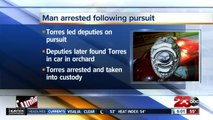 Man arrested following high-speed pursuit