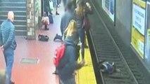 Mujer sobrevive tras caer al metro de Buenos Aires por desmayo de un hombre