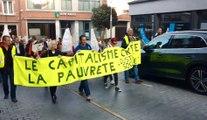 250 marcheurs ont dénoncer les injustices entre pauvres et riches à Tournai