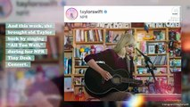 "PSA: Taylor Swift sang an acoustic version of ""All Too Well"" at her Tiny Desk Concert"