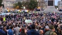 Extinction Rebellion defy police ban to occupy London's Trafalgar Square again, despite polarising tube protest