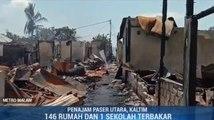 Rusuh di Penajam Paser Utara, 146 Rumah dan Satu Sekolah Terbakar