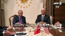 بنس ينتزع من إردوغان وقفا لاطلاق النار في سوريا