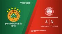 Panathinaikos OPAP Athens - AX Armani Exchange Milan Highlights | Turkish Airlines EuroLeague, RS Round 3