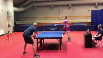 Intense Table Tennis Matches between Friends