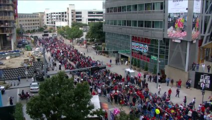 Trump Supporters Crowd Downtown Dallas Ahead of Texas Campaign Rally
