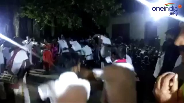 Minister velumani Campaign with Oyilattam dance