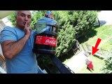 COCA COLAYI BALKONDAN AYŞENİN TEPESİNE GEÇİRDİK Coca COLA PRANK Eğlenceli Video