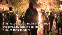 Catalan separatists, police clash in fresh violence