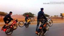 AMAZING   BIKE STUNTS ONE WHEELING MOTORCYCLE STUNTS