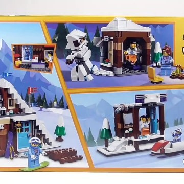 "LEGO Creator Modular Winter Vacation ""Ski Cabin"" (31080) - Toy Unboxing and Speed Build"