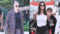 Justin's Ex Kourtney K & Wife Hailey Bieber Attend Church Together