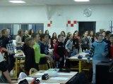 Au collège Georges Brassens de Brazey, on a chanté pour Ela