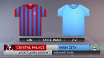 Match Preview: Crystal Palace vs Man City on 19/10/2019