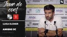 Conférence de presse d'avant Match, Luka Elsner ( Nîmes - Amiens SC )