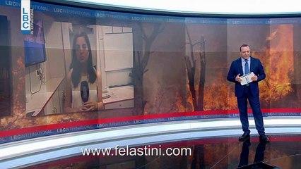 الهلال الاحمر الفلسطيني في لبنان ومتطوعو الاطفاء في المخيمات الفلسطينية يشاركون في عمليات الاغاثة