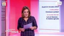 Invitée : Christiane Lambert - Bonjour chez vous ! (24/10/2019)