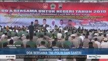 TNI-Polri dan Santri di Jawa Tengah Gelar Doa Bersama