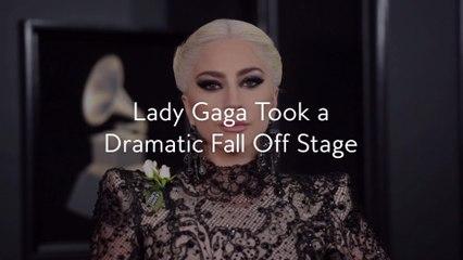 Lady Gaga Took a Dramatic Fall Off Stage