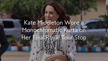 Kate Middleton Wore a Monochromatic Kurta on Her Final Royal Tour Stop