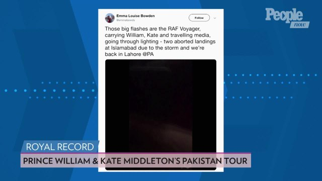 Prince William and Kate Middleton's Plane Turned Around by Terrifying Electrical Storm in Pakistan