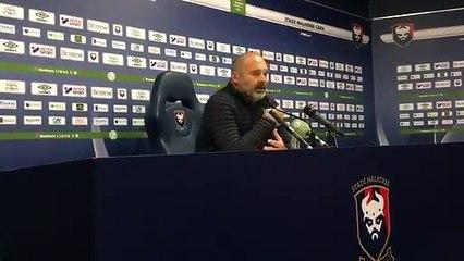 La réaction de Pascal Dupraz après Caen-VA (0-0)