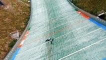 German Mountain Bike Pro Athlete Spills on World's Longest Jump Attempt