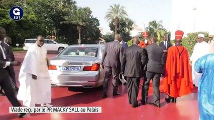 Visite du Président Abdoulaye Wade au Palais