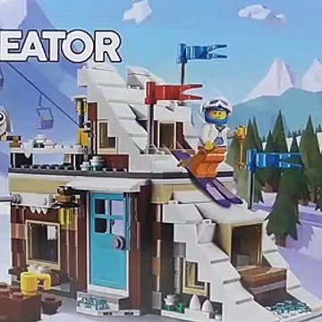 "LEGO Creator Modular Winter Vacation ""Bobsleigh Track"" (31080) - Toy Unboxing and Speed Build"