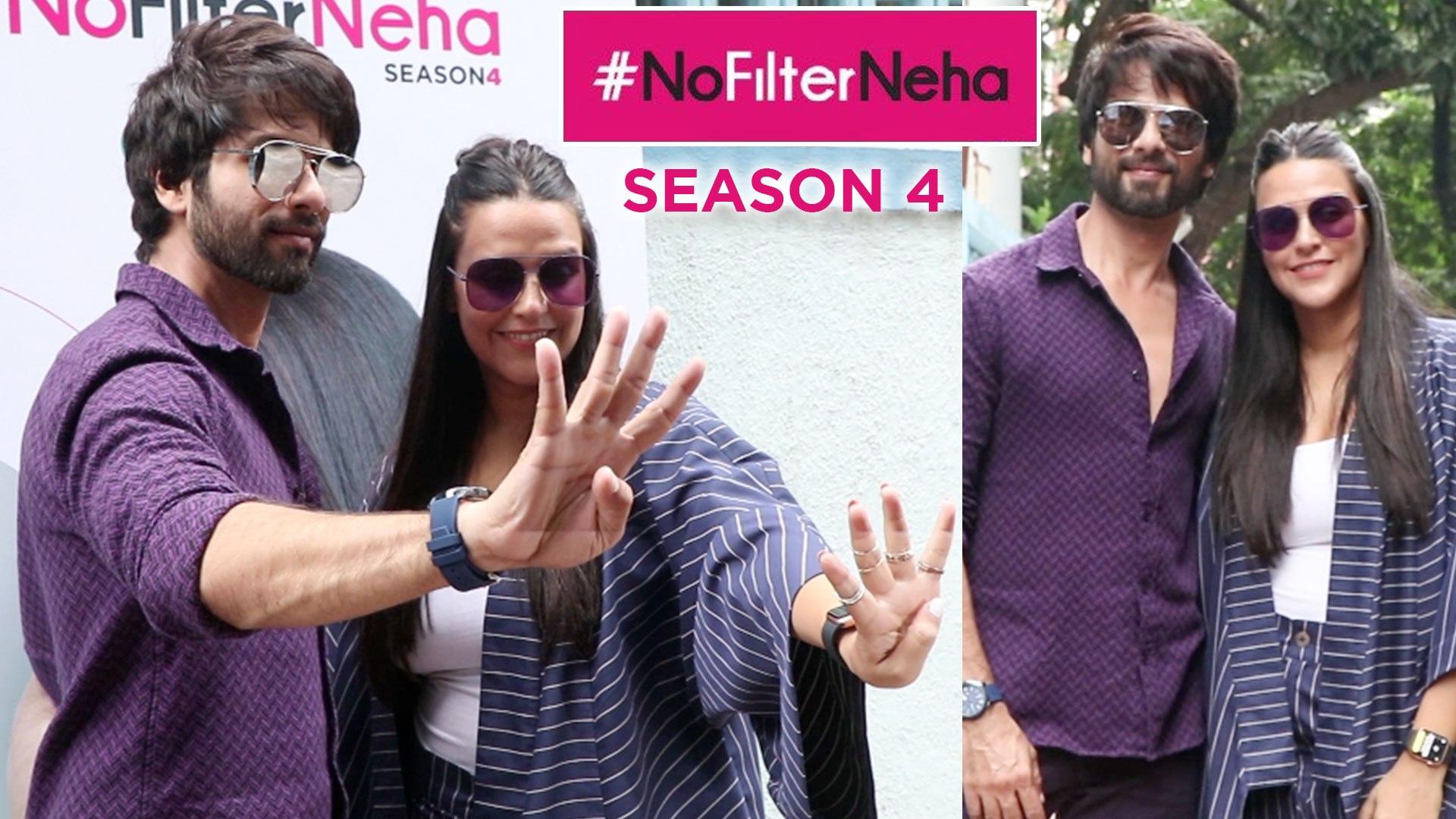 Neha Dhupia No Filter Neha With Shahid Kapoor   Season 4   Spotted