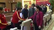 Chủ tịch Quốc hội Nguyễn Thị Kim Ngân: Các nữ cầu thủ phát huy được phẩm chất người phụ nữ Việt Nam