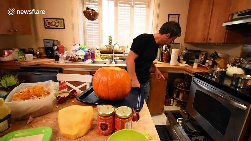 This pumpkin chicken recipe will change your Halloween!