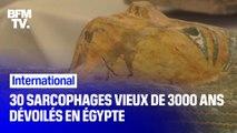 30 sarcophages de plus de 3000 ans dévoilés en Égypte