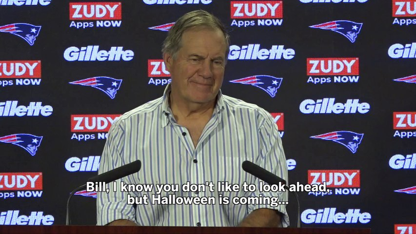 Bill Belichick Has No Time For Your Halloween Questions