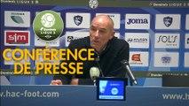 Conférence de presse Havre AC - FC Lorient (2-2) : Paul LE GUEN (HAC) - Christophe PELISSIER (FCL) - 2019/2020