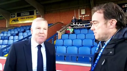 Kenny Jackett talks to The News after Pompey's 1-0 defeat at AFC Wimbledon
