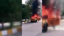 Üniversitelerin tasarladığı elektrikli araç yandı - OSMANİYE