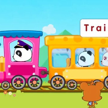 Baby Panda Learns Transport  Kids Learn Train, Firetruck, Ambulance, Police  Babybus Kids Games