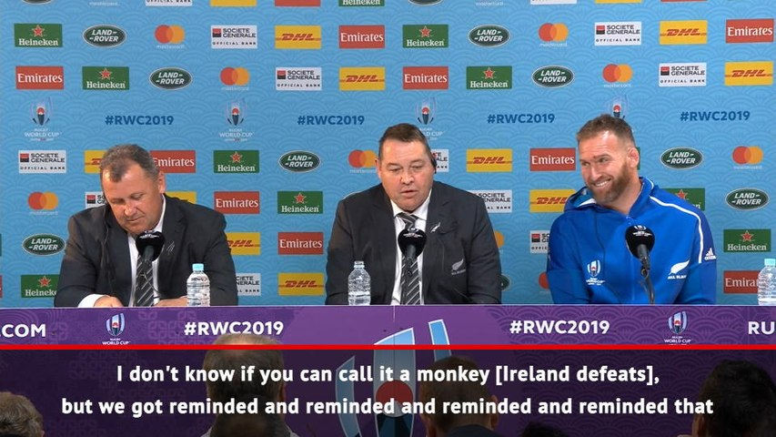 RUGBY UNION: 2019 World Cup: All Blacks don't forget their defeats - Hansen on Ireland revenge