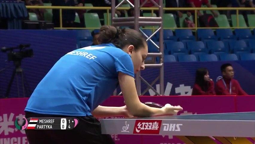 Dina Meshref vs Natalia Partyka | 2019 ITTF Women's World Cup Highlights (Group)
