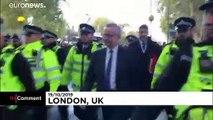 Des manifestants pro-UE s'insurgent contre des ministres britanniques