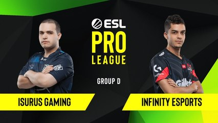 CS-GO - Isurus Gaming vs. Infinity Esports [Mirage] Map 1 - Group D - ESL NA Pro League Season 10