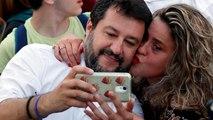 Demostración de fuerza de Matteo Salvini en Roma