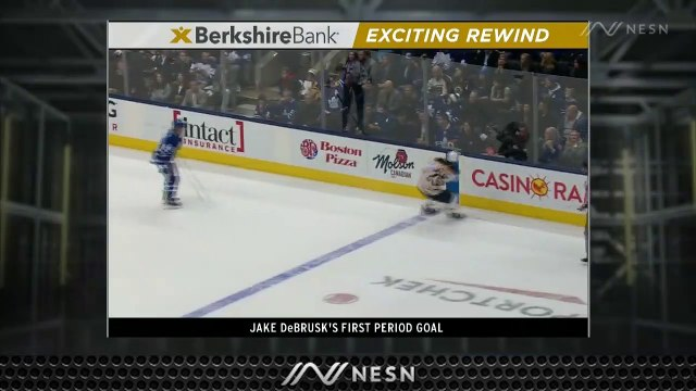 Jake DeBrusk Slices Maple Leafs' Lead In Half With First Goal Of Season