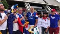 Mondial de rugby - France-Pays de Galles : les supporters français chauffent l'ambiance !