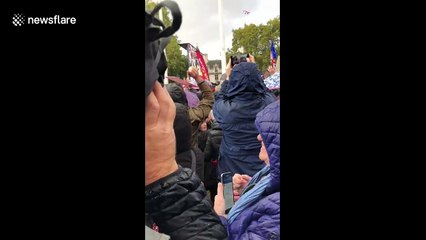 The moment the People's March crowd find out the Letwin Amendment was passed