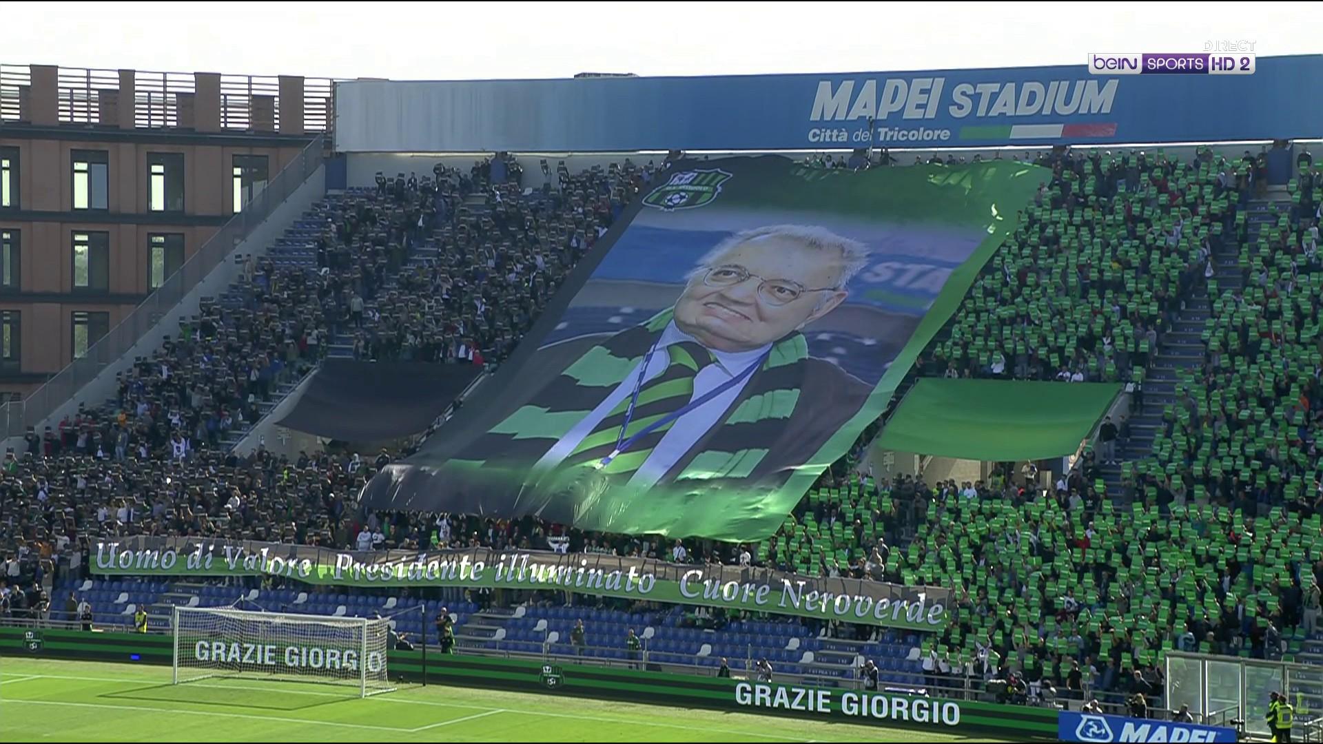 Serie A : Sassuolo rend un dernier hommage à son président décédé